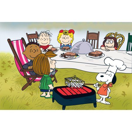 Marmont Hill Peanuts Thanksgiving Peanuts Print on Canvas, Size: 36 inch x 24 inch, Multicolor