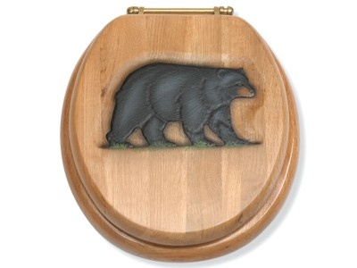 Black Bear Toilet Seat Nature Bathroombathroom Ideaswoodsy
