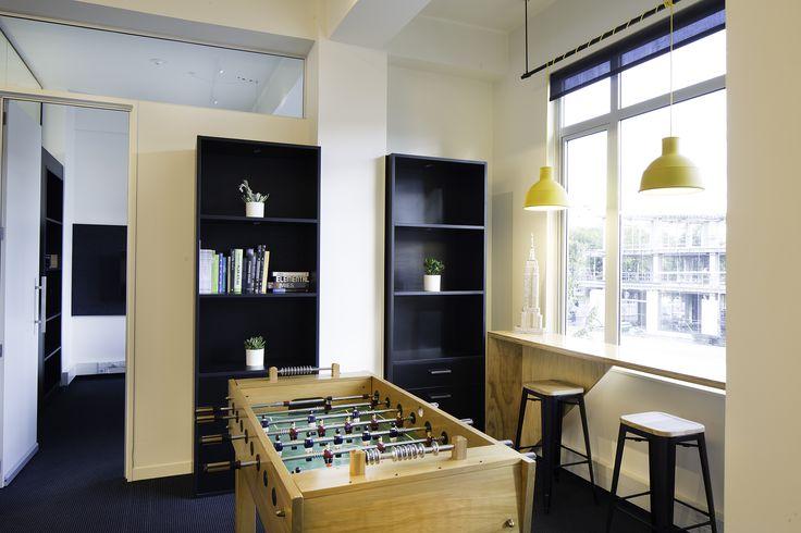 S&T Christchurch Studio #christchurch #stephensonturner #foosball #games #interior #fitout