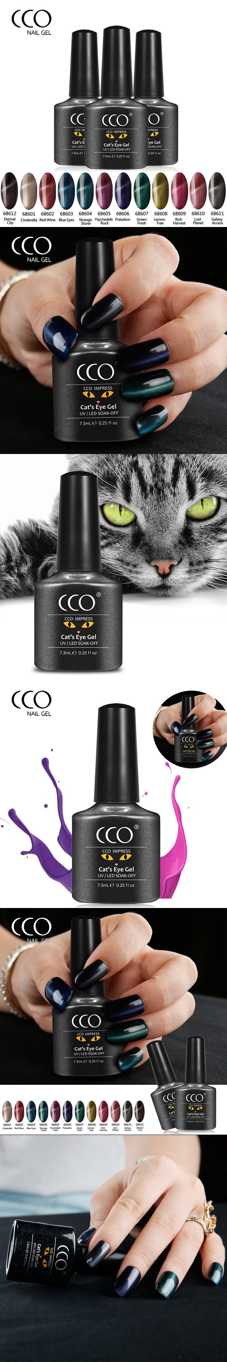 CCO Nail Gel Polish Varnish Elegant 3D Cat Eyes Gel Nail Polish Magnetic Gel Soak Off UV LED Gelpolish Nail Art For Women Beauty
