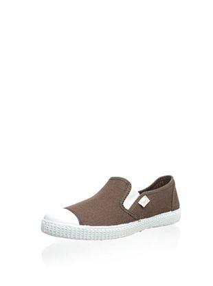 45% OFF Cienta Kid's Slip-On Sneaker (Marron)