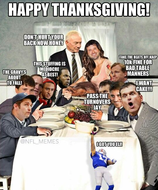 The real NFL Thanksgiving!