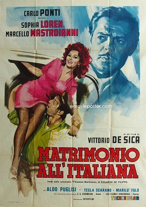 "Poster for ""Matrimonio all'Italiana"" 1964"