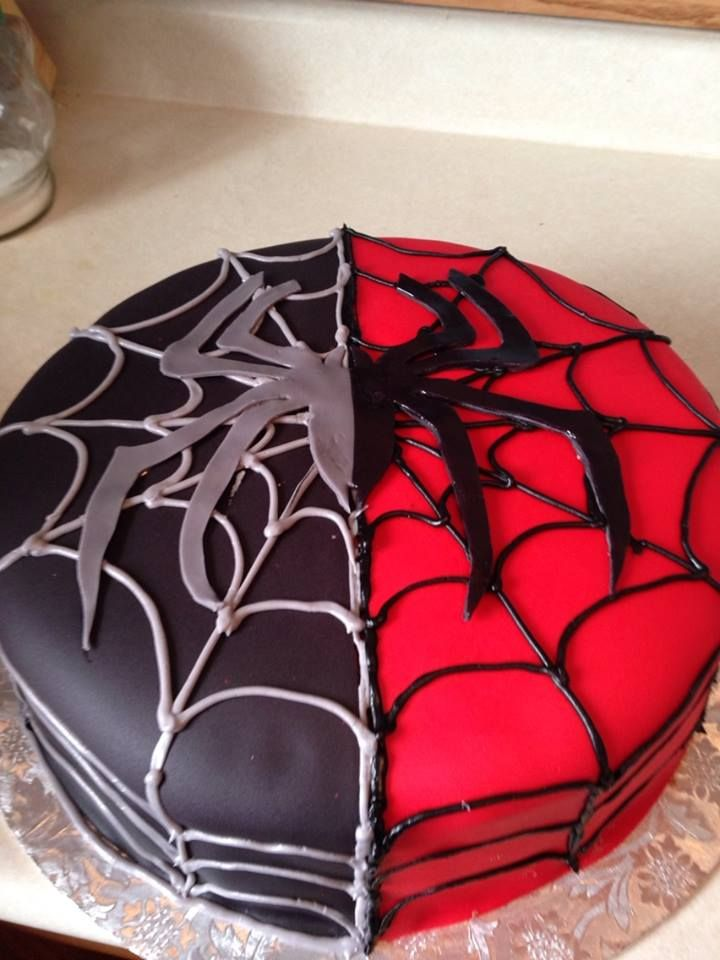 Black spiderman cakes - photo#55