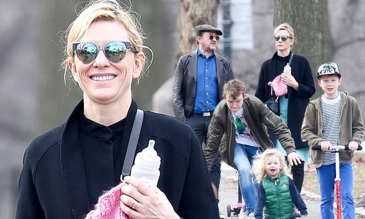 On Tuesday, Australian actress Cate Blanchett was back in mum mode as she and playwright husband Andrew Upton took their children to Central Park in New York