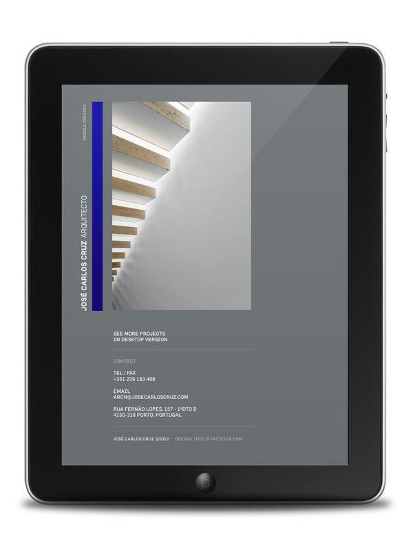 José Carlos Cruz Website/Tablet