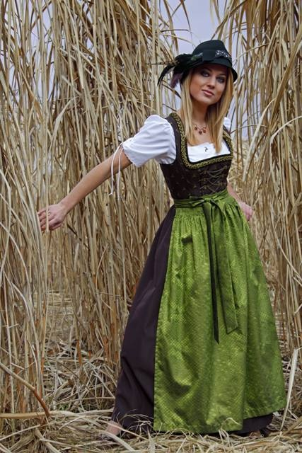 Dirndl -- full length, worn in both Austria and Germany (mainly Bavaria)