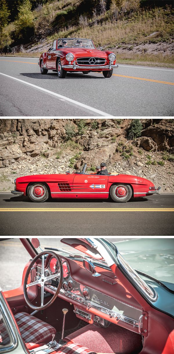 This fall it was time again for the annual Colorado Grand road trip! Among the ca. 100 pre-1962 sports cars rallying over a 1,000 miles through the Rocky Mountains, a total of 16 300 SL Gullwings and Roadsters were participating this year. Thanks to @mbclassiccenter!