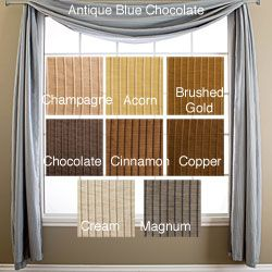 @Overstock - Madrid 6-yard Window Scarf (51 in. x 216 in.) - A lovely alternative to a traditional valance, this Madrid six-yard window scarf is ideal for covering curtain rods, and for adding an extra decorative layer to any window treatment. This beautiful window scarf is available in several popular colors.  http://www.overstock.com/Home-Garden/Madrid-6-yard-Window-Scarf-51-in.-x-216-in./4154965/product.html?CID=214117 $74.99