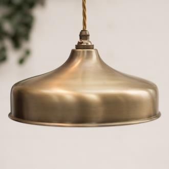 Exeter Pendant in Antiqued Brass made by Jim Lawrence