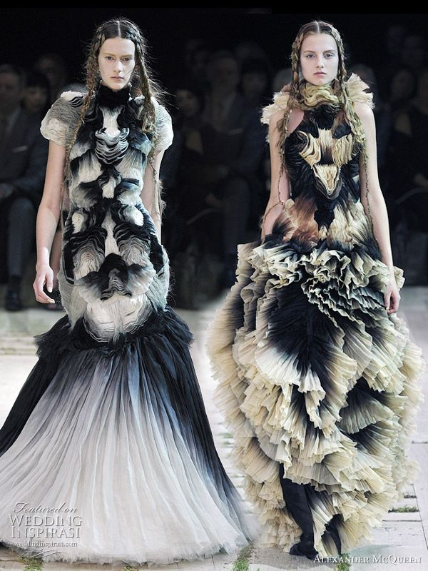 Alexander McQueen Spring/Summer 2011 ready to wear - ruffle gowns