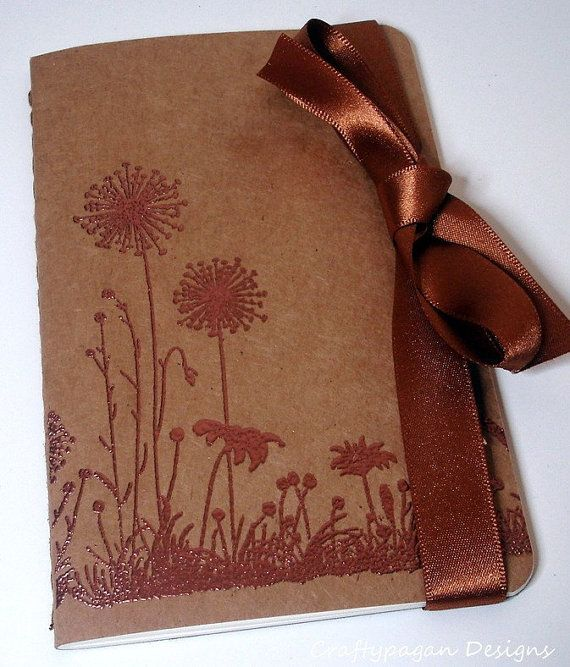 Dandelion Moleskine Kraft Cahier-Notebook/Journal/Pocketbook Perfect for Gifts and Favors