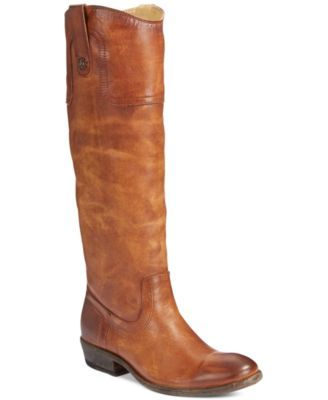 Frye Carson Button Wide Calf Riding Boots