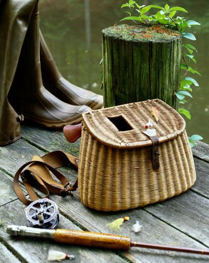 Flyfishing equipment on a dock (detail) ~ by Janis Christie onGetty-Images