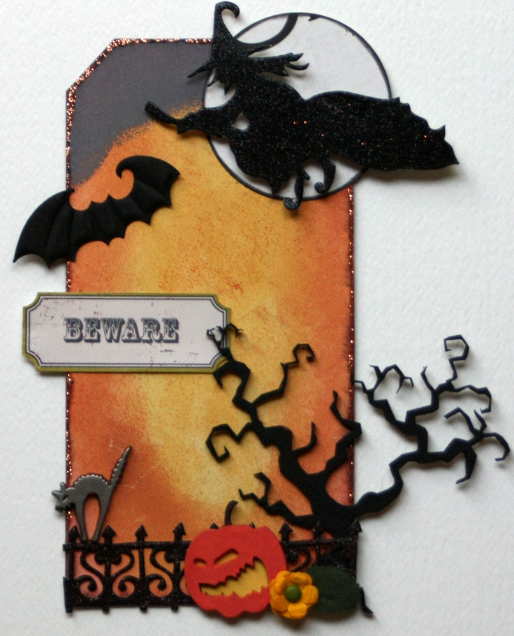 Beware Altered Tag - Scrapbook.com