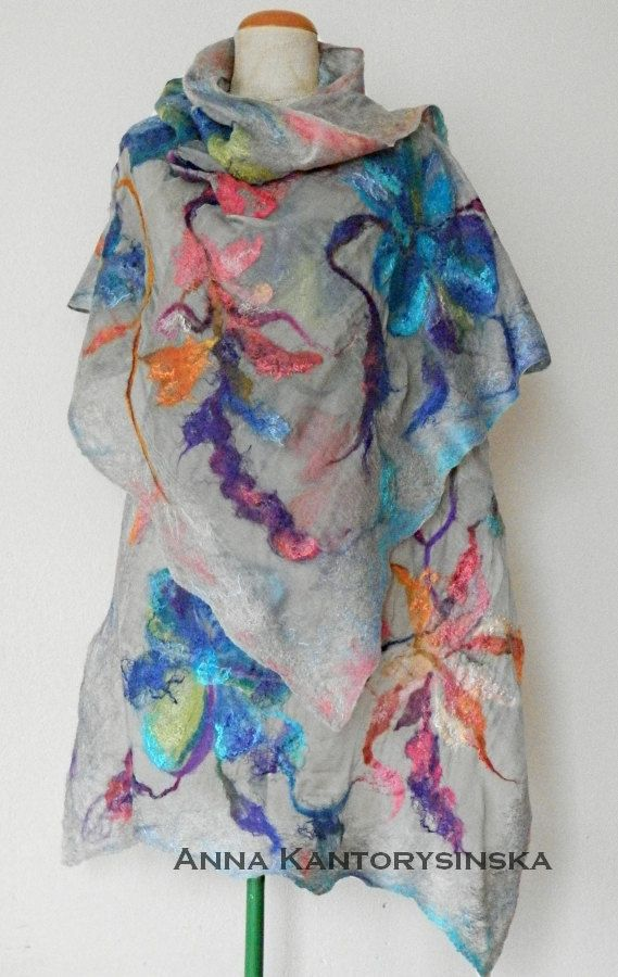 Hey, I found this really awesome Etsy listing at https://www.etsy.com/listing/225225173/nuno-felted-silk-scarf-shawl-spring