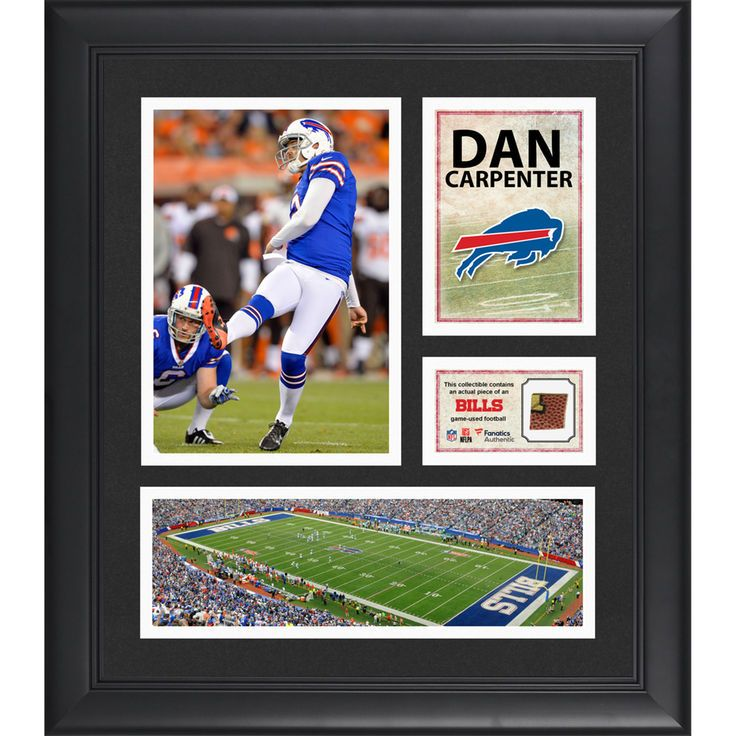 "Dan Carpenter Buffalo Bills Fanatics Authentic Framed 15"" x 17"" Collage with Game-Used Football - $79.99"