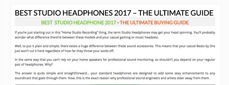 Looking for the best studio headphones? Here, we have a compilation of the best studio headphones we have on the market. Check them out https://studiogearexperts.com/gear-reviews/