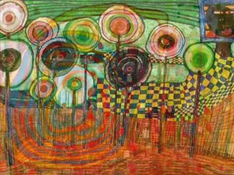 hundertwasser, the painter. (if showing younger students, stop right before the end)