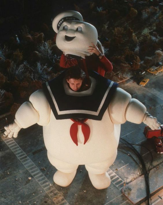Behind the scenes on #Ghostbusters (1984). I'd love to go stomping around that miniature set! Stay Puft