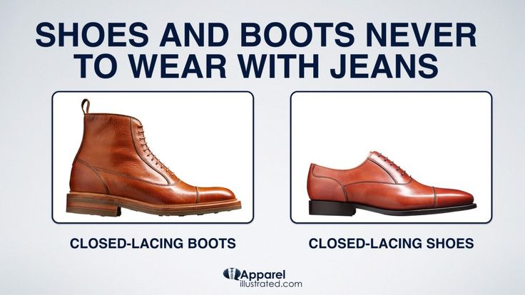 These Shoes Are Too Dressy To Be Worn With Jeans.   Find out why: http://apparelillustrated.com/shoes-to-wear-with-jeans