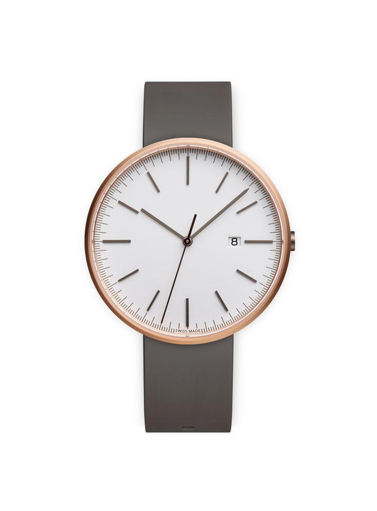 UNIFORM WARES Men's M40 Date Watch in PVD Rose Gold