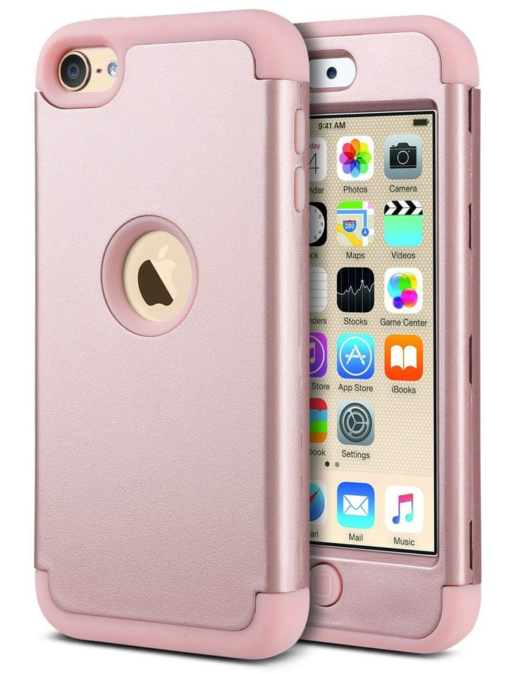 For-Apple-iPod-Touch-5-6th-Generation-Hybrid-Protective-Silicon-Hard-Cover-Case