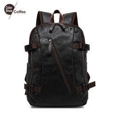 Men's Backpack Tactical Sac A Dos Leather Backpack  http://ebagsbackpack.tumblr.com/