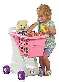 LITTLE TIKES - SHOPPING CART - PINK - Adult jobs at children's sizes