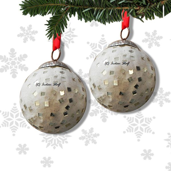 Avail 10% discount on round Holiday Christmas ornament which reflects lights beautifully. http://goo.gl/O8YA6t
