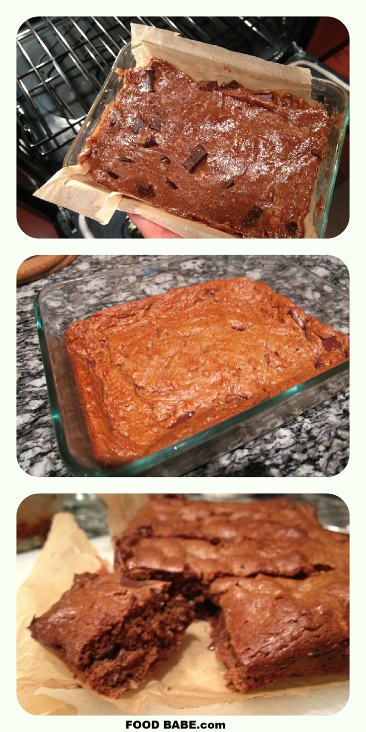 Almond Butter Brownies - Gluten Free!  *Click on photo for more delicious organic recipes from Foodbabe.com *  Organic dinner ideas, organic recipe ideas, organic living, real food recipes, whole food recipes, clean eating, healthy food, healthy dinner ideas