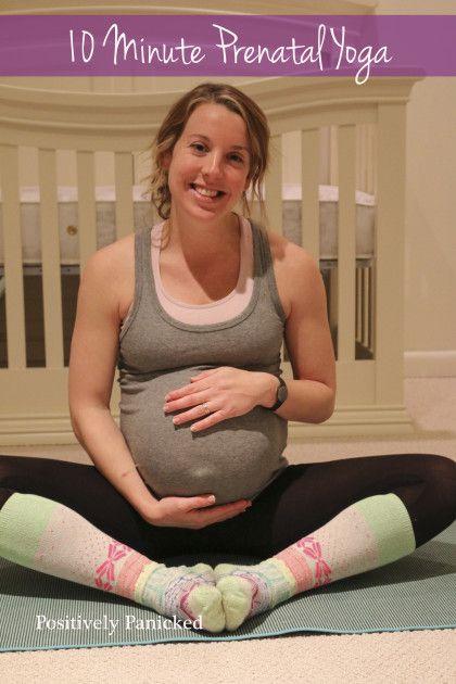 10 minute prenatal yoga
