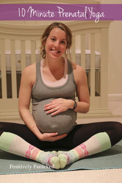 10 minute prenatal yoga... I could attempt that maybe... Maybe I'll try it not pregnant now...