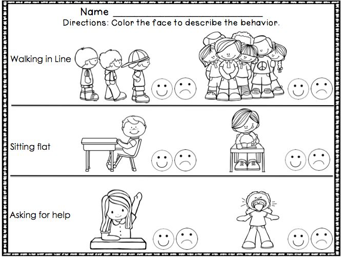 classroom behavior coloring pages - photo#13