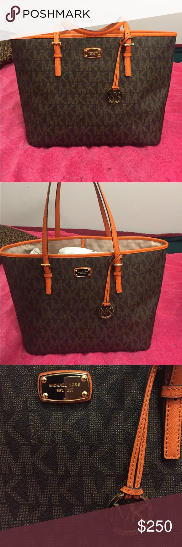 Michael Kors Jet Set Travel Tote This is the large bag. Michael Kors Bags