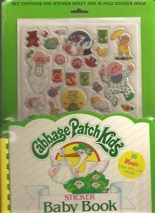 Cabbage Patch Kid sticker book!!! Loved it!