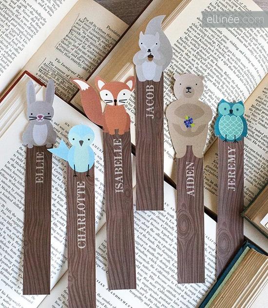 boekenlegger leuk om zelf te maken en uit te delen met een verjaardag op school
