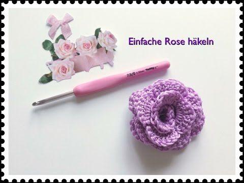 SUPER EINFACHE Rose häkeln / Applikation häkeln für Anfänger – YouTube