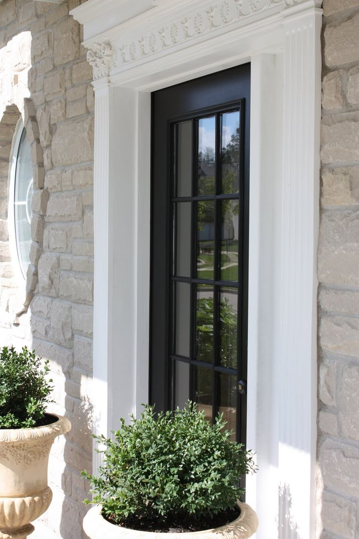 Casement windows brock doors amp windows brock doors amp windows - Black Door And Beautiful Frame The Yellow Cape Cod 31 Days Of Building Character Replace The Front Door With A Glass Inset Door For More Light In The