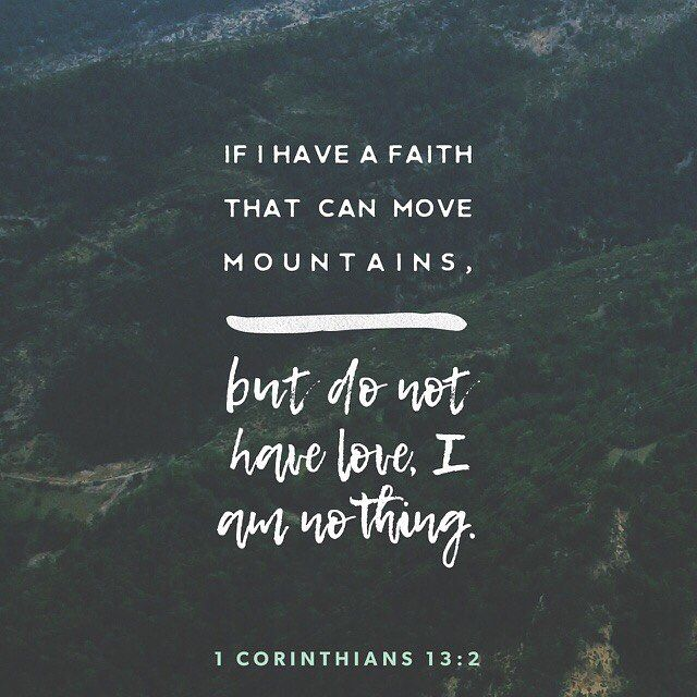 2 And though I have the gift of prophecy and understand all mysteries and all knowledge; and though I have all faith so that I could remove mountains and have not charity I am nothing. (1 Corinthians 13:2 KJV) #pastorricardooliveros