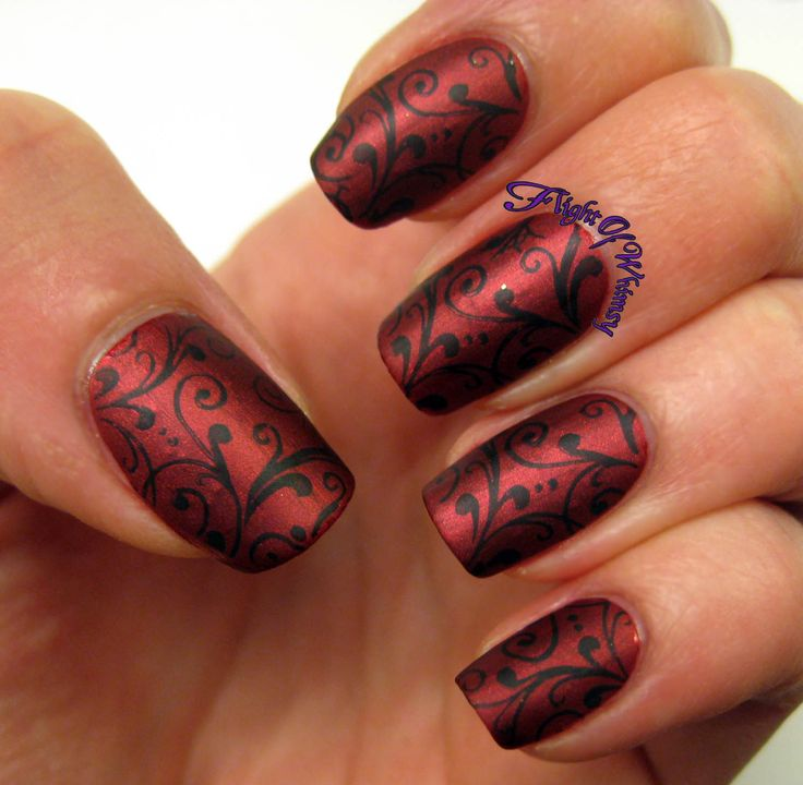 Gel Nail Designs Red And Black Hireability