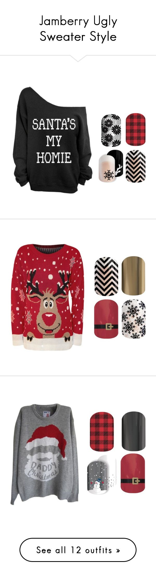 """Jamberry Ugly Sweater Style"" by kellie-guravich-medivitz on Polyvore"