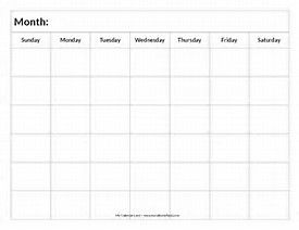 Image result for completely blank calendar template