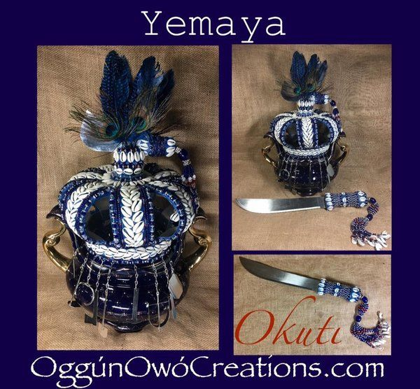 Crown Yemaya Okuti  with Machete