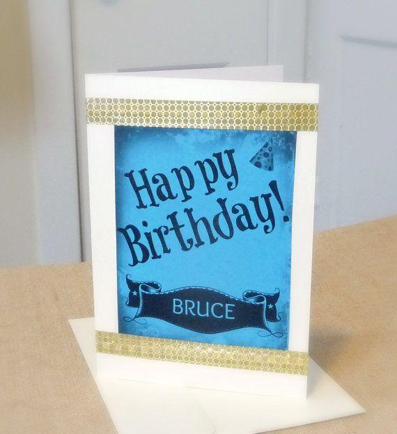 Personalized Birthday Card Custom Made Birthday by TundraAndTaiga