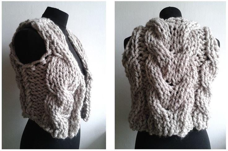 KecskésKriszti - hand knitted vest 2014 #knit #knitted #craft #vest