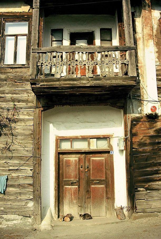 Door of village house, Bolu, Turkey. photo by Rezzan Akin.