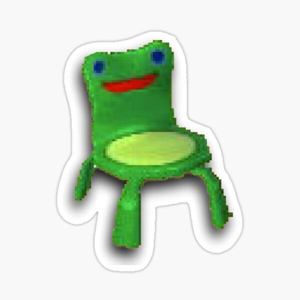 Froggy Chair Sticker By Axlord In 2020 Froggy Vinyl Sticker Stickers