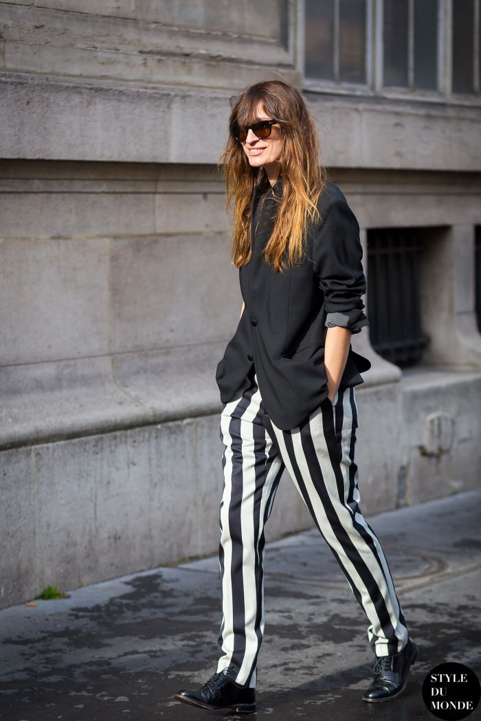 Paris Fashion Week FW 2015 Street Style: Caroline de Maigret - STYLE DU MONDE | Street Style Street Fashion Photos