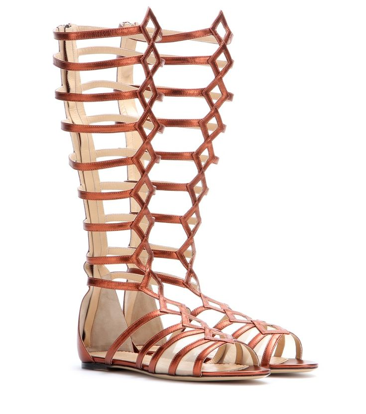 Maya Metallic Leather Gladiator Sandals